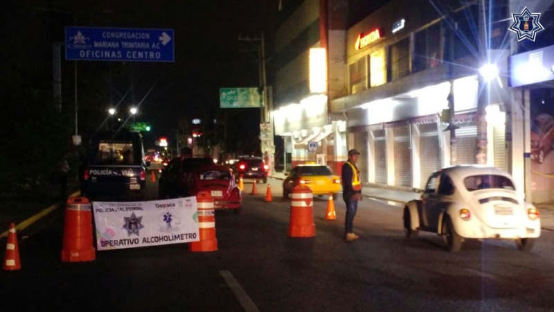 15 Conductores detenidos en Operativo Alcoholímetro