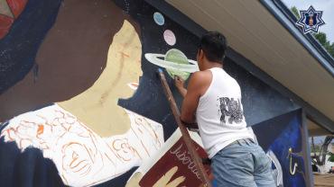 """Presenta SSPO mural """"Libertad sin violencia"""""""