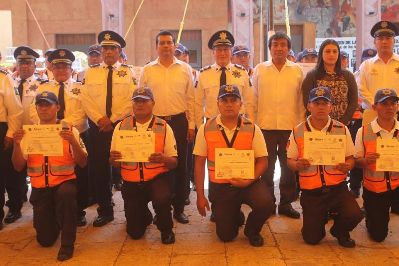 Concluyó policía de Huajuapan capacitaciones en materia de vialidad