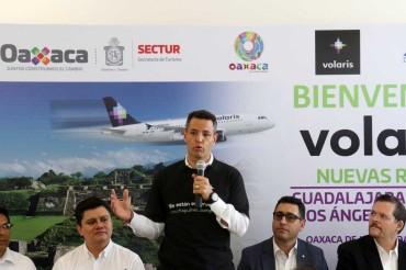 Inauguró Murat dos nuevos vuelos