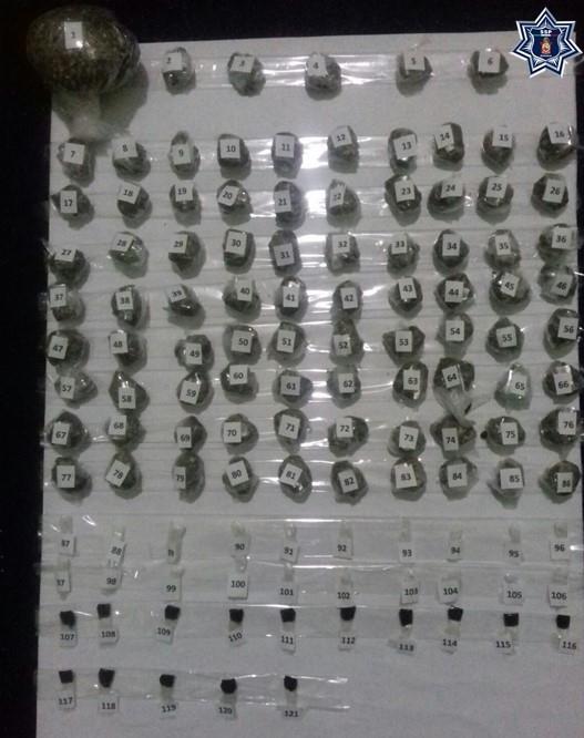 Un total de 85 envoltorios de diferentes drogas fueron decomisados en el Cereso de Ixcotel