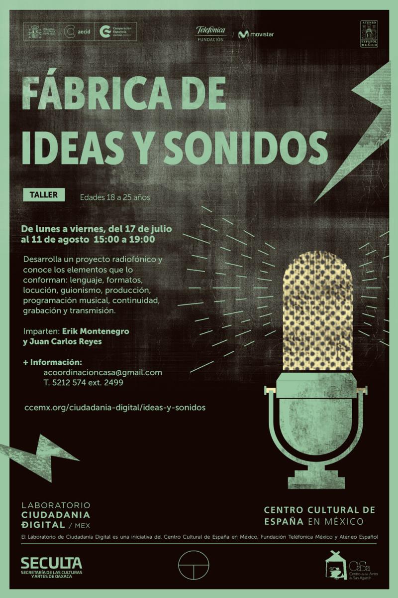 """Convocan a interesados a participar en taller de radio """"Fábrica de ideas y sonidos"""" en el CaSa"""