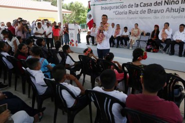 Invierten 11 mdp para obras de reconstrucción de la Casa del Niño Indígena en Ixtaltepec