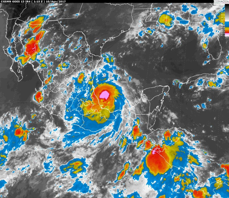 "Huracán ""Franklin"" originará tormentas intensas en Oaxaca"