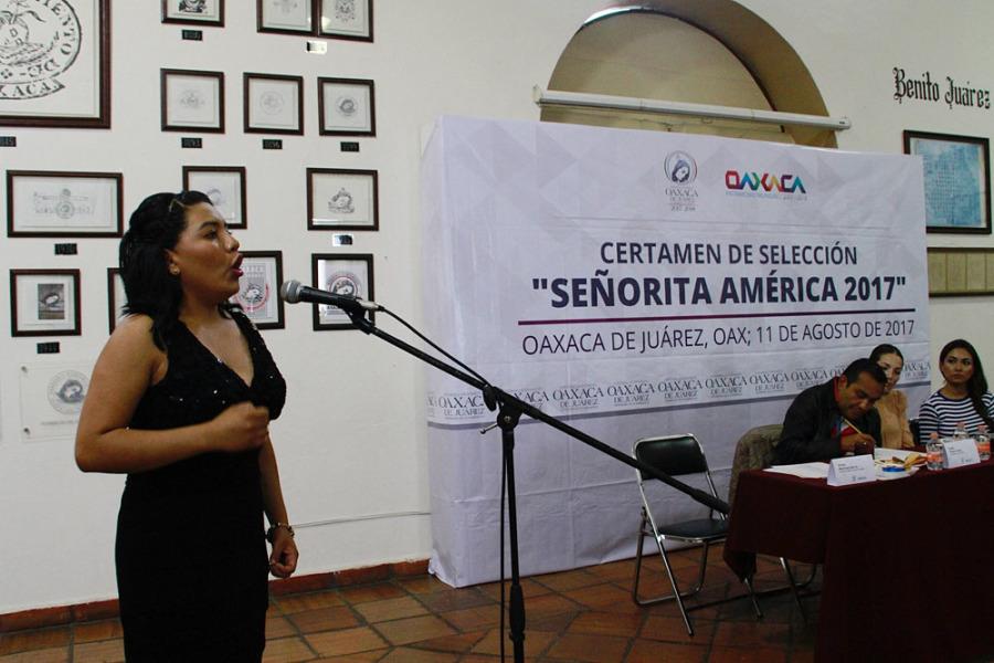 Realizó el Ayuntamiento de Oaxaca el concurso de selección Señorita América 2017