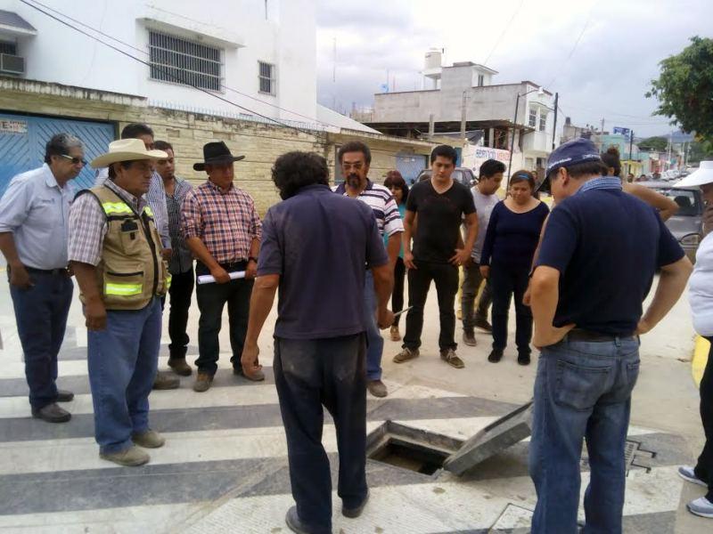 Trabaja Sinfra para evitar inundaciones en colonias aledañas al Centro Cultural Oaxaca