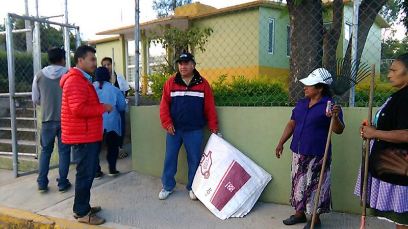 Habitantes de El Molino, realizan tequio para evitar enfermedades