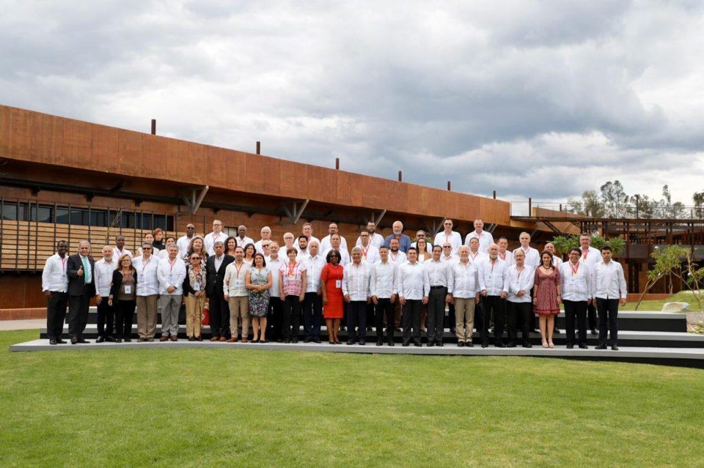 Participantes del 40 aniversario de la Copppal en el Centro Cultural y de Convenciones de Oaxaca