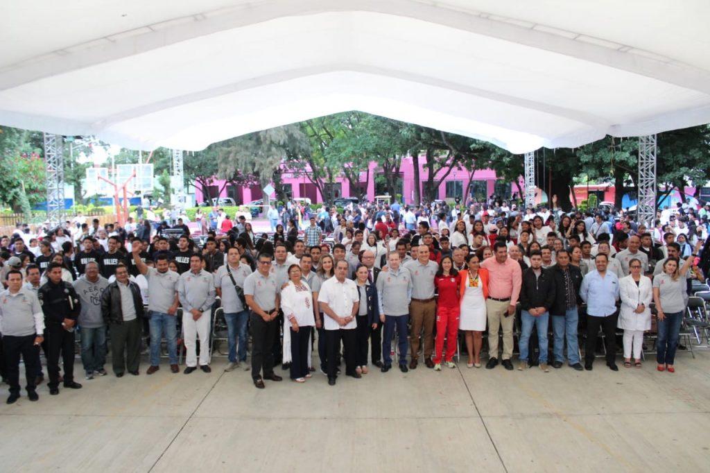 Inauguración de la 37 Intercolegial estatal del Cobao
