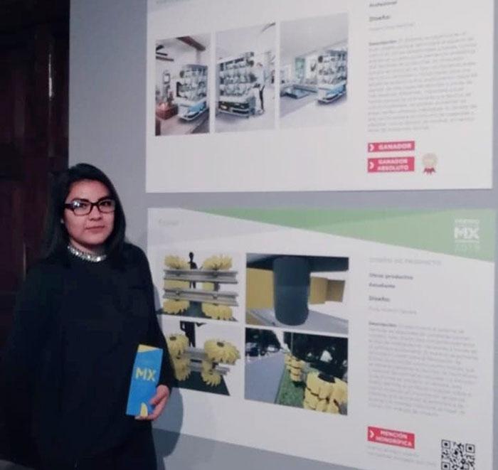 Egresada de la Universidad Tecnológica de la Mixteca gana premio nacional de diseño
