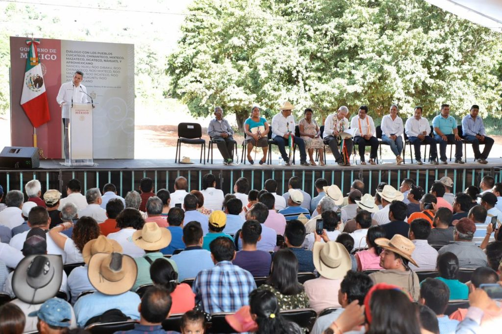 Evento presidencial en Cuicatlán, Oaxaca.