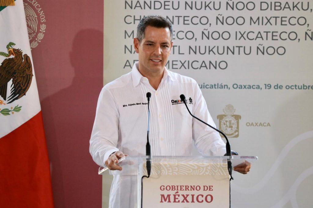 Intervención de Alejandro Murat en el evento presidencial en Cuicatlán