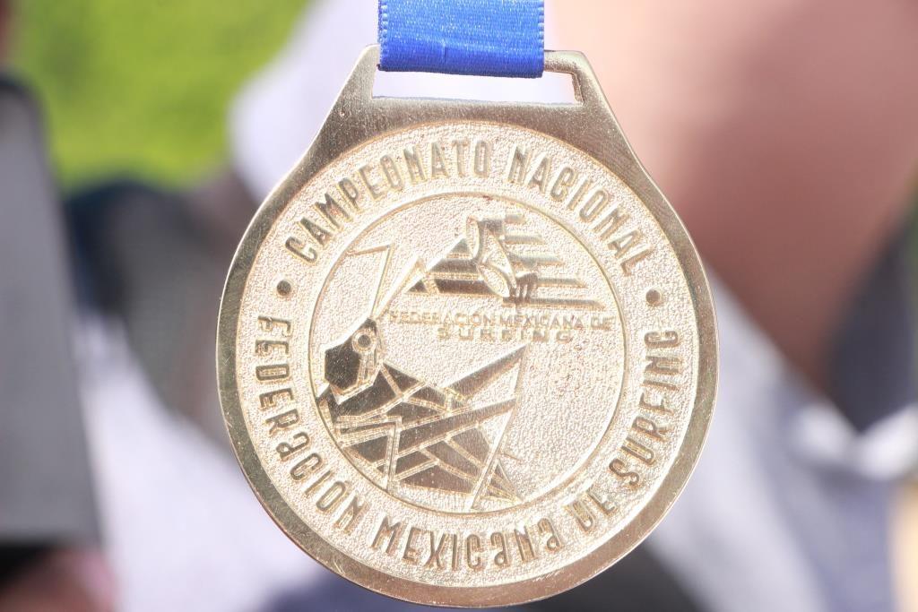 Medalla de los Juegos Nacionales del Surf Oaxaca 2019