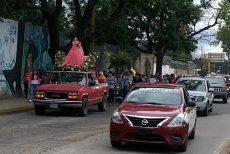 En la Verde Antequera, realizan calenda en honor a la Santa Muerte