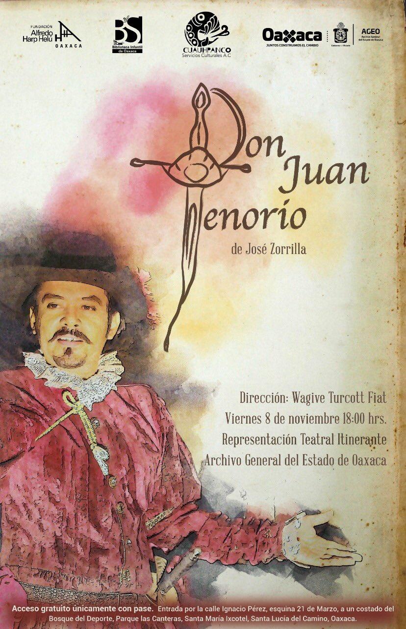 Presentarán en el AGEO la puesta en escena de Don Juan Tenorio