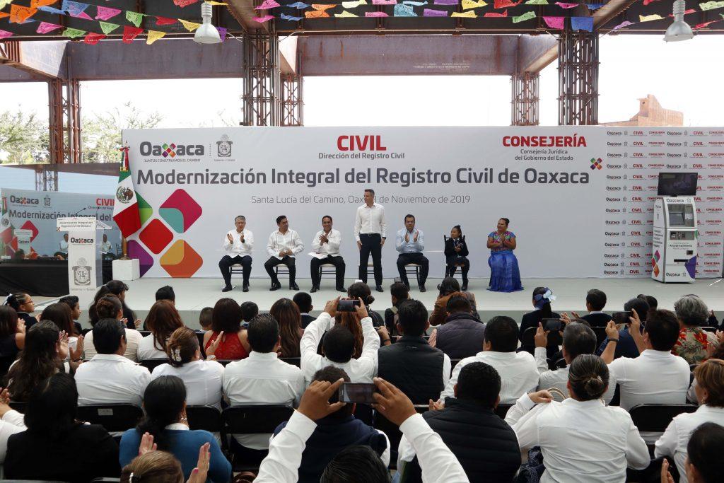 Lanzamiento del programa de Modernización del Registro Civil de Oaxaca
