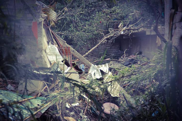 Por la explosión de un tanque de gas L.P., el inmueble quedó destruido en su totalidad
