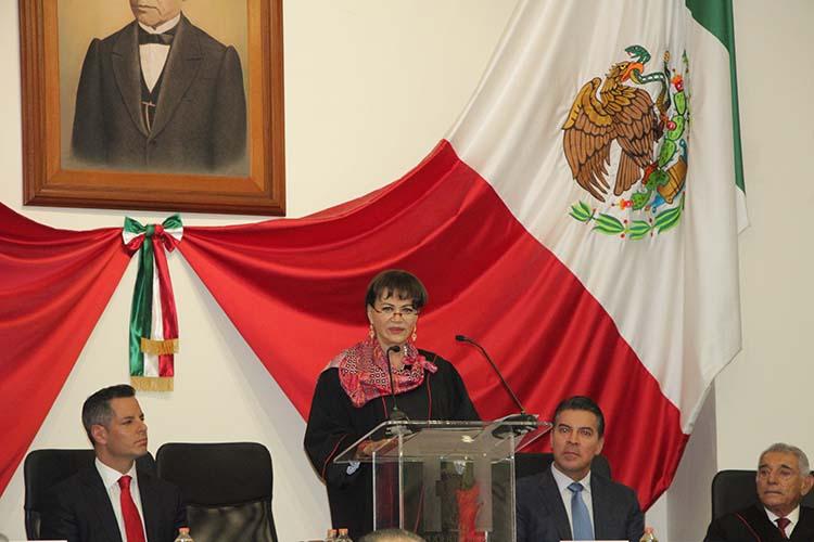 Justicia eficiente fortalece el estado de derecho: magistrada Villanueva Abraján