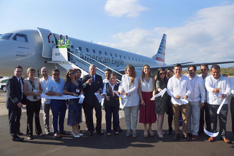 En Huatulco, abren nueva ruta aérea con Dallas Fort Worth