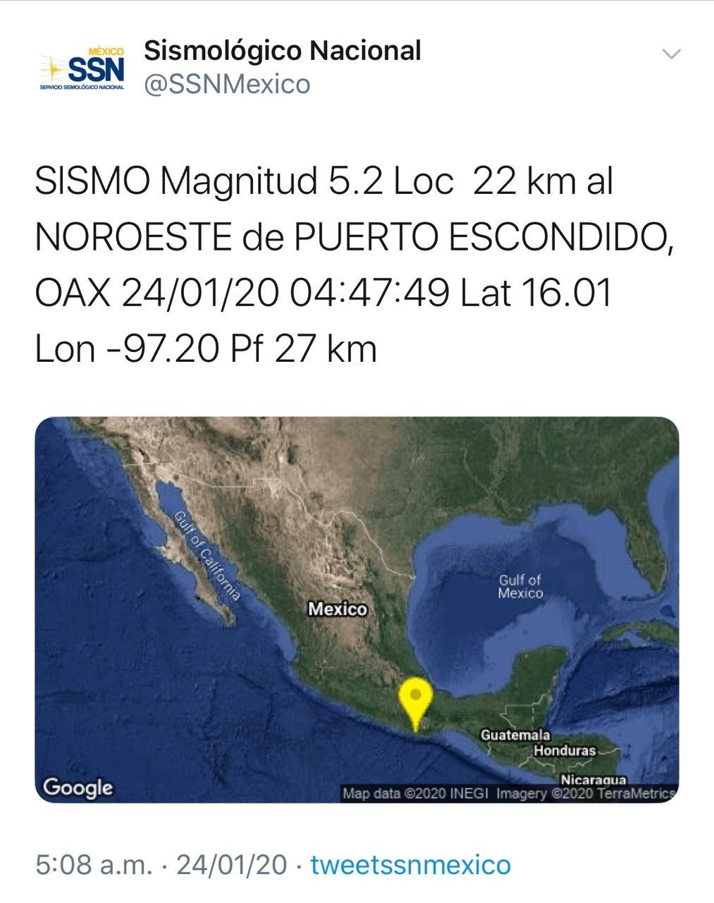 Image result for sismo oaxaca 24 enero