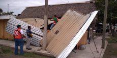 Fuertes vientos derriban árboles y techados en Oaxaca