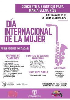 Realizarán concierto a favor de María Elena en Cholula, Puebla