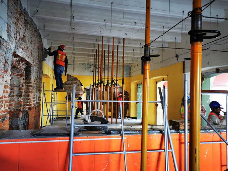 Verifica Inpac avances en trabajos de reconstrucción en Juchitán