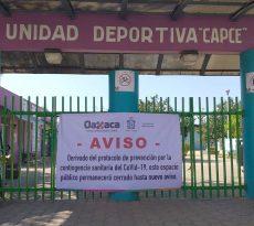 Suspenden actividades en parques públicos por Covid-19