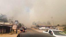 Incendio en la zona Mixe deja un herido