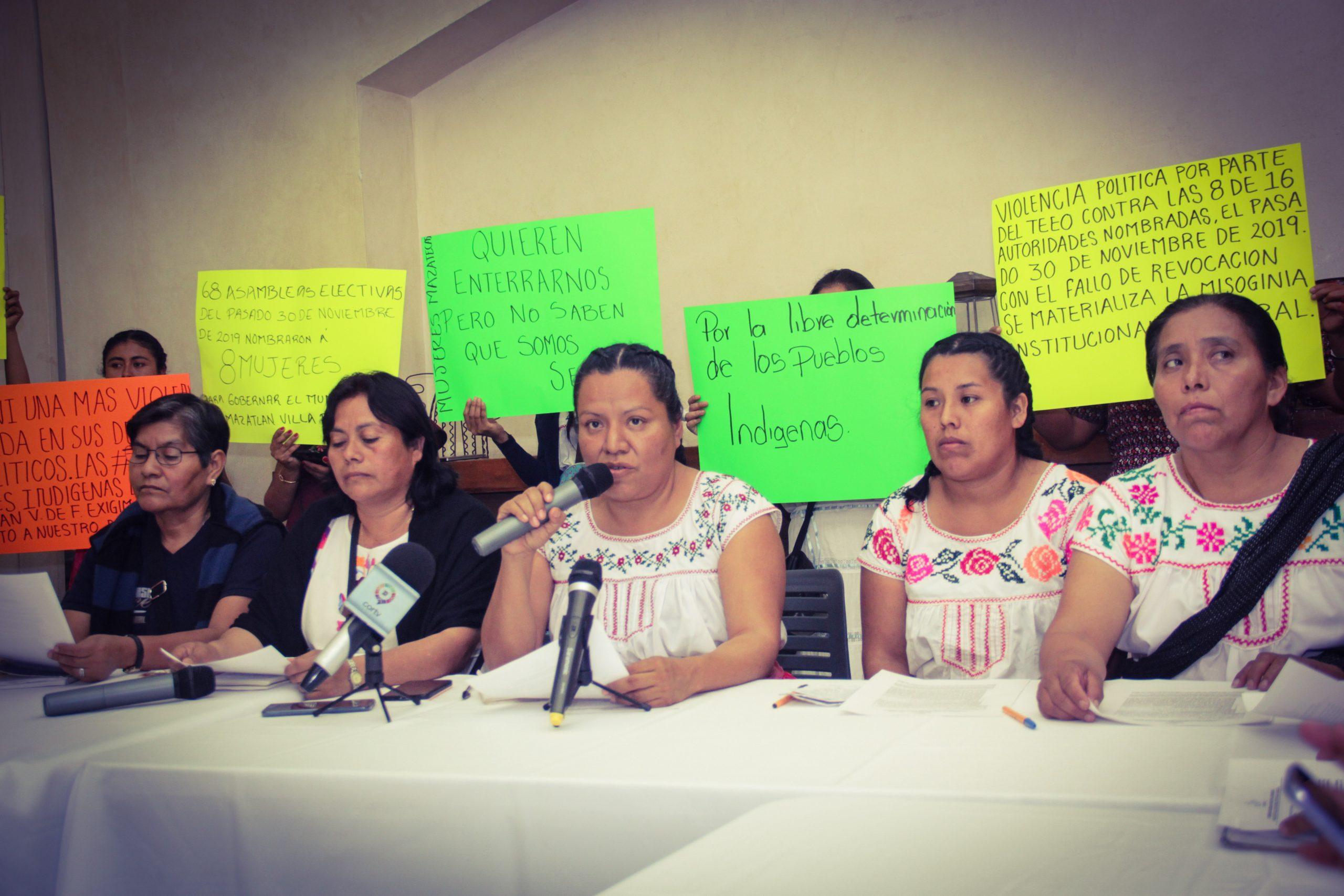 Denuncian mujeres de Mazatlán Villa de Flores violencia política