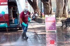 Intensifican limpieza en espacios públicos de Oaxaca