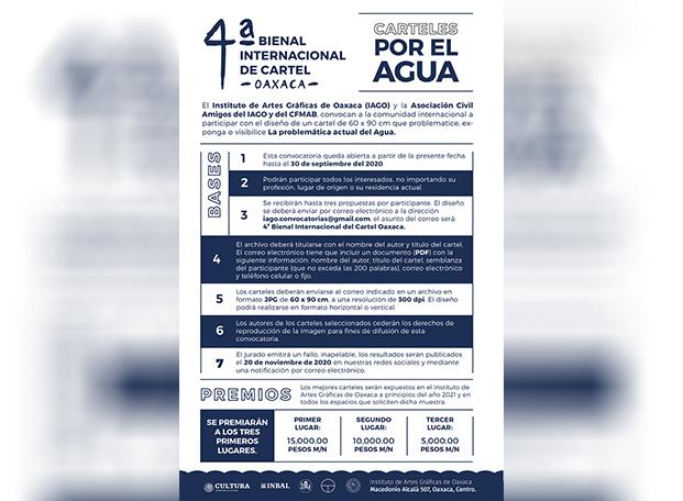Lista la convocatoria de 4ª Bienal Internacional de Cartel Oaxaca, el tema es el agua