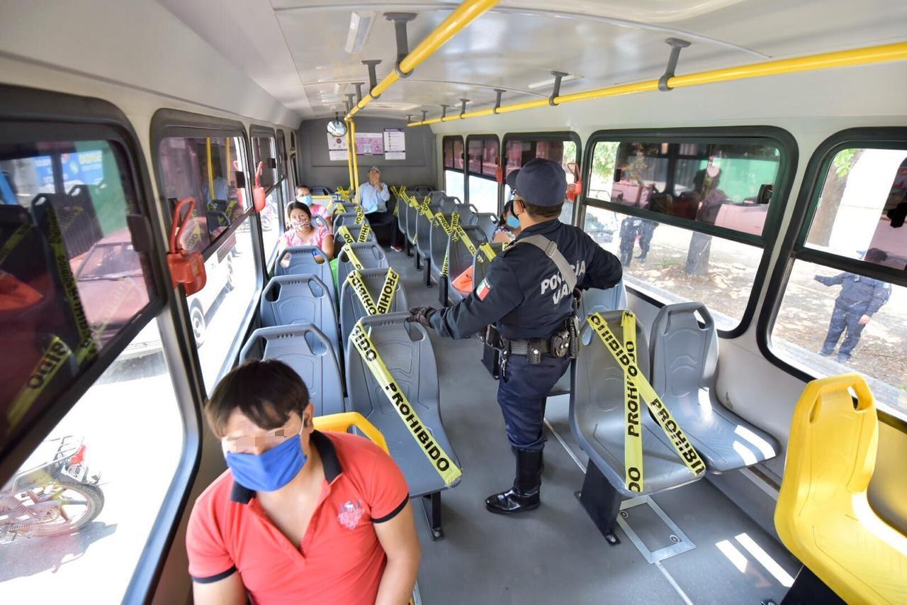 Transporte público dará servicio al 50 % de su capacidad