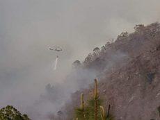 Declaran en emergencia cinco municipios por incendios forestales en Oaxaca