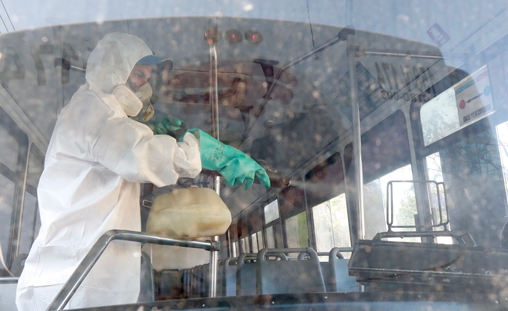 Sanitiza Semovi unidades de transporte público que circulan en Oaxaca de Juárez