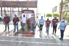 Extienden Ayuntamiento saneamiento de áreas comunes en agencias de Dolores, Donají y San Luis Beltrán
