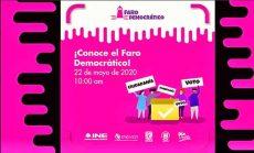 """Con """"Faro Democrático"""" buscan difundir temas cívicos entre estudiantes de secundaria"""