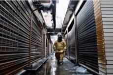 Corto circuito ocasionó incendio en la Central de Abasto de Oaxaca