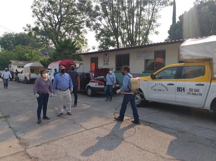 Realizan sanitización en municipios con casos confirmados de COVID-19