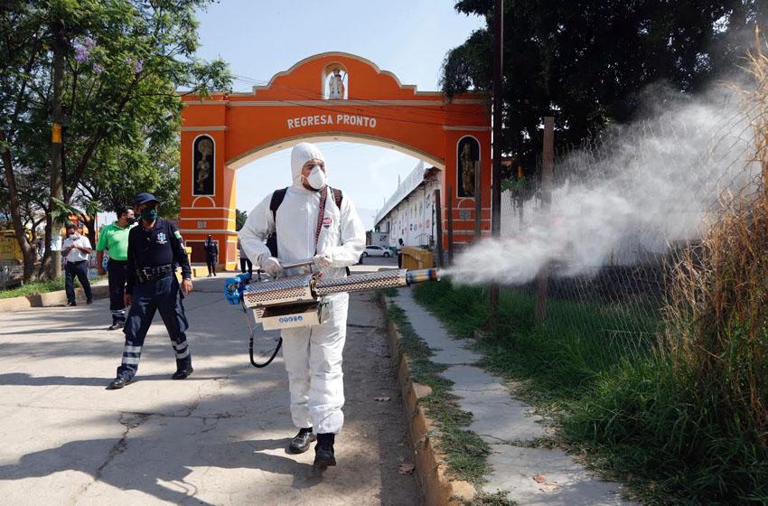 Municipios de Valles Centrales refuerzan acciones de sanitización