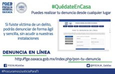 Lanza Fiscalía General plataforma digital: Denuncia en Línea