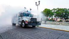 Continúan acciones de sanitización en Oaxaca