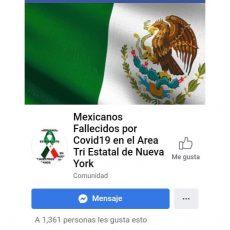 Promueven, en red social, donaciones para oaxaqueños fallecidos por Covid-19 en EU
