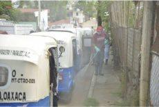 Despliega Ayuntamiento de Oaxaca labores de desinfección en Trinidad de Viguera