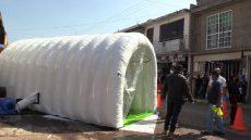 Instalan túnel sanitizante en Huajuapan2
