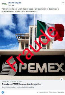 Alertan por fraude con supuestas plazas de Pemex