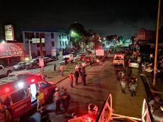 Se solidarizan coorporaciones de bomberos para atender incendio en la Central