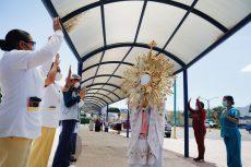 Iglesia realiza procesión para pedir por el fin de la pandemia