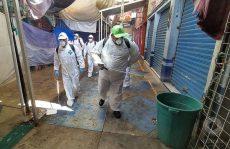 Mantienen acciones de sanitización en la Central de Abasto