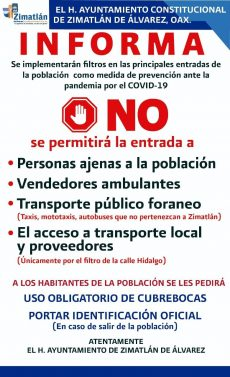Restringen accesos a Zimatlán